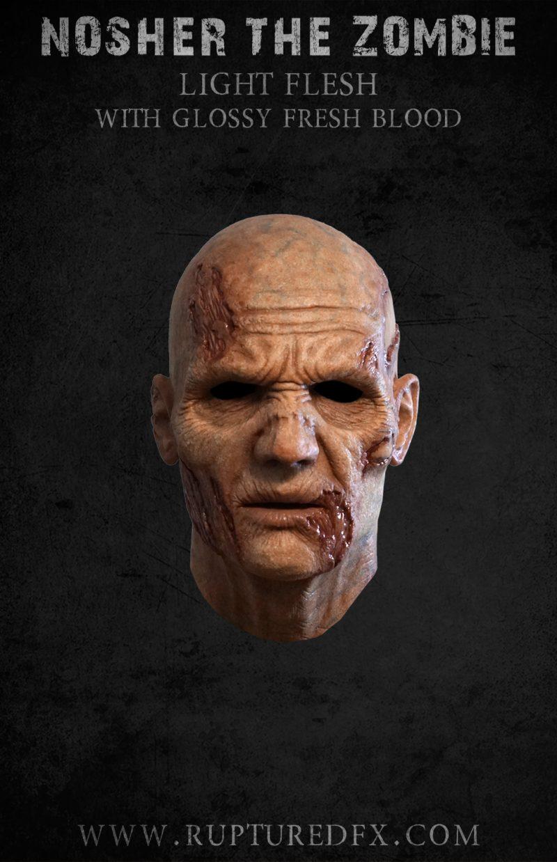 Nosher Zombie Silicone Half Mask